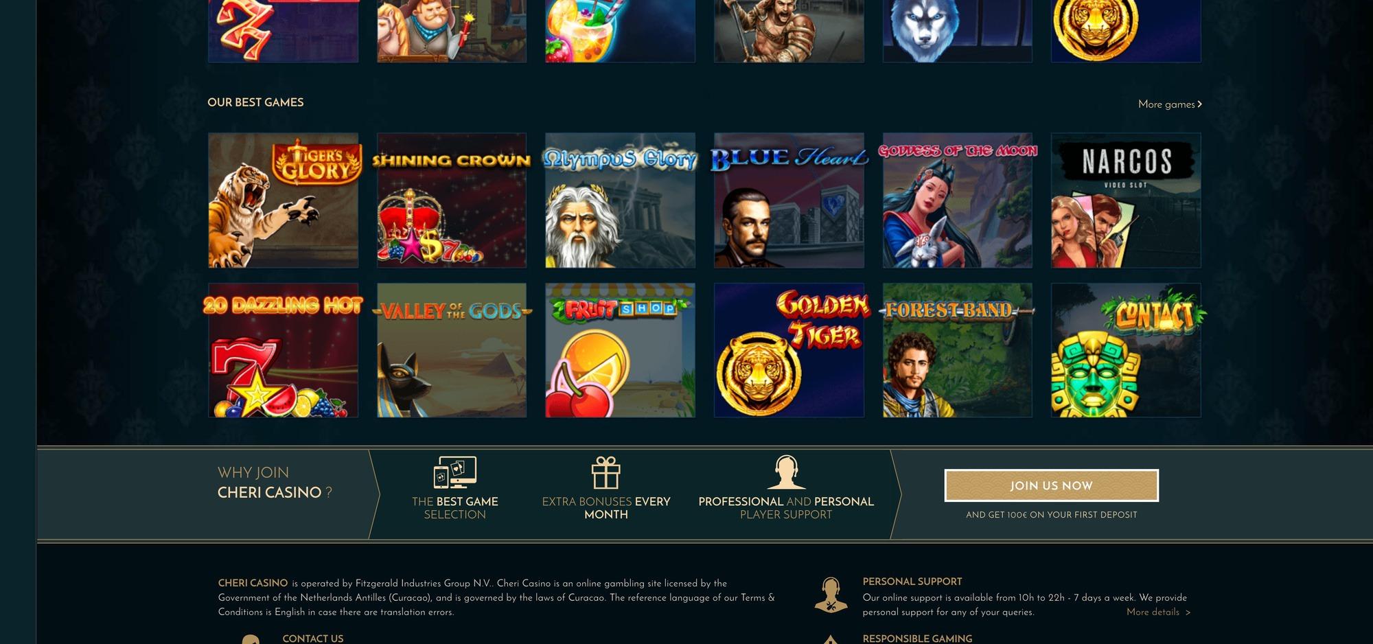 Cheri casino : avis et présentation