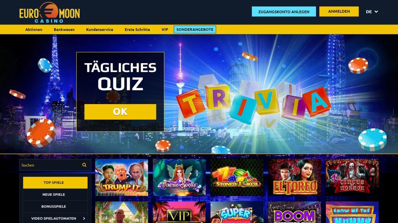Casino Euromoon, le choix des gagnants